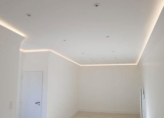 Pose de LED Plafond
